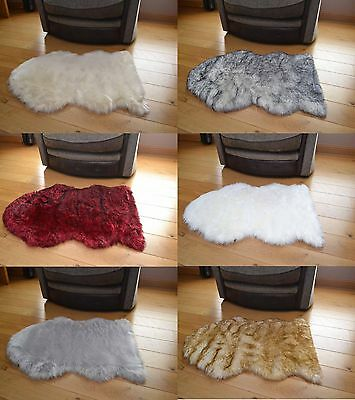 Large 70cm x 110cm Not Real Sheepskins Fluffy Faux Fur Soft Thick Rugs Rug Cheap