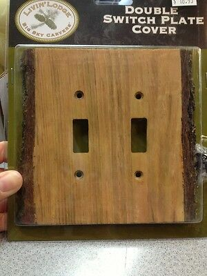 Wood Slice -resin Double Switch Plate Cover