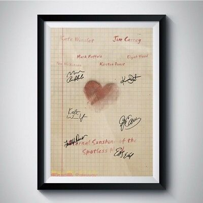 ETERNAL SUNSHINE OF THE SPOTLESS MIND Movie Casts Autograph Reprint Poster A4 A3