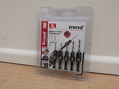 Trend Snappy 5Pce Hss Drill & Countersink Set Snap/cs/set