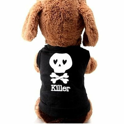 Small Terror Dog/Puppy's Tshirt Masculine Killer Skull Motif with an attitude