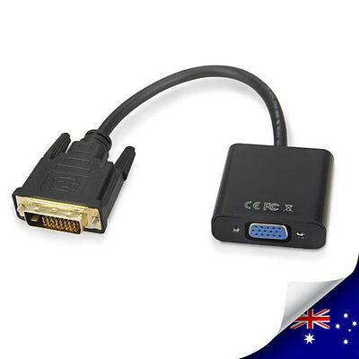 1 x DVI-D 24+1 Pin Male to VGA 15Pin Female Active Cable Adapter Converter