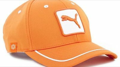 Puma Youth - Cat Patch Relaxed Fit Cap. Vibrant Orange. One Size