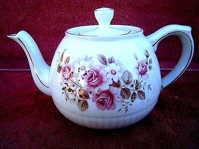 VINTAGE  ELLGREAVE WOOD  AND  SONS  GENUINE  IRONSTONE  TEA POT  No. 546D