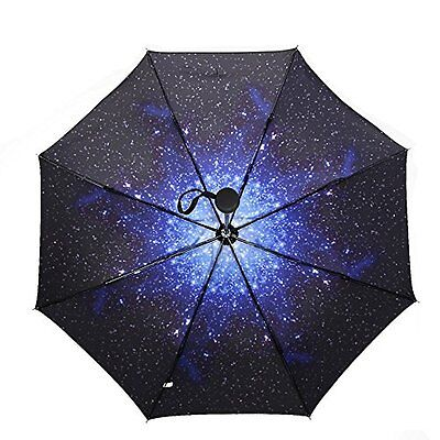 MyLifeUNIT Starry Star Sky Automatic Folding Compact Umbrella