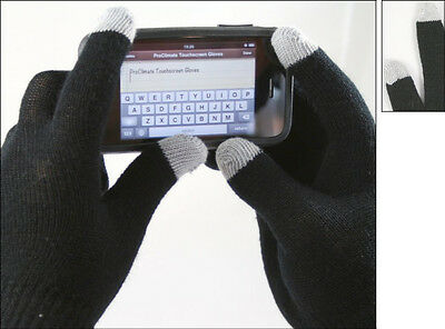New Kids Teens Magic Touch Screen Gloves. Black. One Size. Conductive Tips