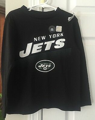 New- New York Jets Boys Size 5 Long Sleeve Shirt Nwt