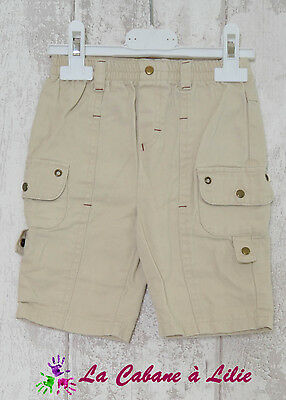♥ Bermuda Réglable Short Beige Marron PREMIER ROLE 6 Mois ♥ N270