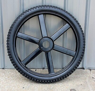 "Brand New horse drawn marathon carriage 31.5"" air tire - wheel assembly"