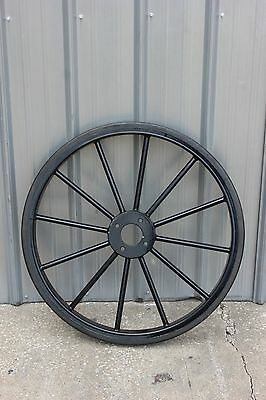 """Brand New horse drawn marathon carriage 33"""" solid rubber  tire - wheel assembly"""