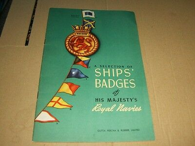 A Selection Of Ships' Badges of His Majesty's Royal Navies Booklet(1942).