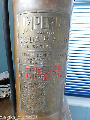"Rare Vintage Imperial Coulter Canada Copper Brass Large 24"" Fire Extinguisher"