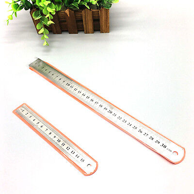 6''/12'' Stainless Steel Metal Ruler Rule Precision Double Sided Measuring Tool