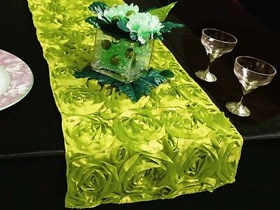Apple Green Rosette Table Runner Wedding Party Table Decoration New