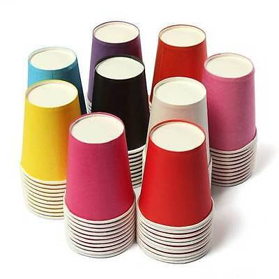 10/30pcs Colourful Paper Tableware Cups Party Wedding DIY Paper Events Drinking