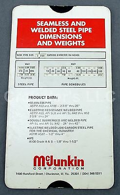 McJunkin Corp Seamless & Welded Steel Pipe Dimensions & Weights