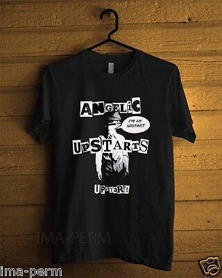 Angelic Upstarts Rock band Black T-shirt for Man Size S-2XL