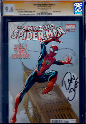 Amazing Spider-Man #1 (2015) Mark Bagley Variant! CGC 9.6 Signed by Dan Slott!