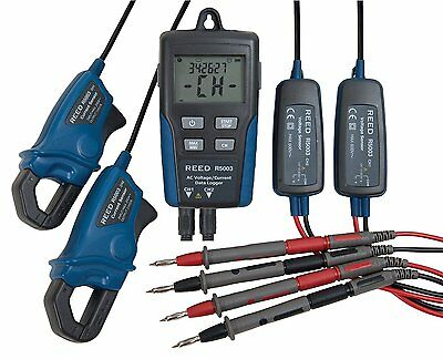 REED R5003 AC Voltage & Current Data Logger, 600V AC Voltage, 200A Current
