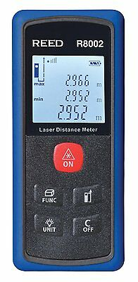 REED R8002 HandHeld Laser Distance Meter, Metric or Imperial Units