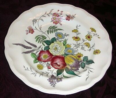 "Vintage SPODE GAINSBOROUGH FLORAL Large 10 1/2"" Dinner Plate S245"