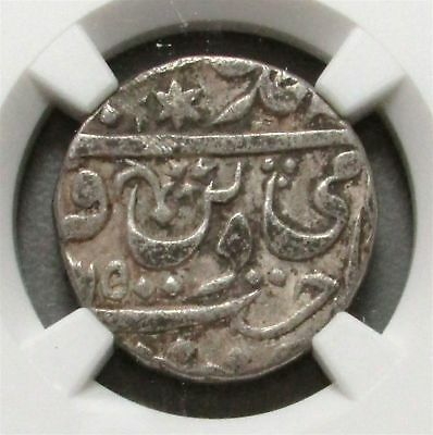 Yr. 43 Silver India Rupee Datia Shroff Marked Edge Coin Ngc Fine Details*