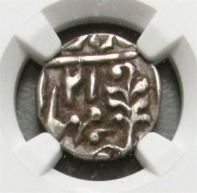 1856 //21 Silver India 1/4 Rupee Jaipur Princely States Coin Ngc Very Fine 30