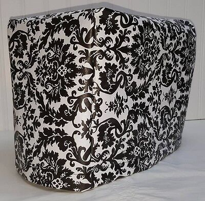 Black & White Vinyl Damask 2 or 4 Slice Toaster Cover