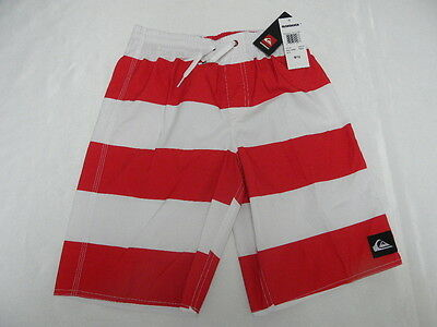befb422b37 Quiksilver Boys Steerage Boardshorts Volley Red Short Sz M/12 New Surf Kids