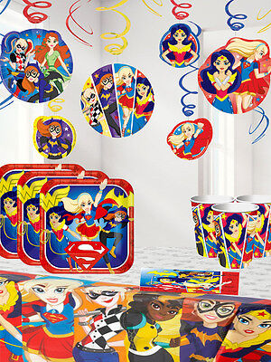 DC Girls Superhero's - Deluxe Party Kit For 16 Girls Birthday Party Supplies