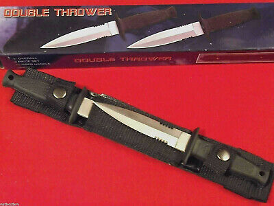 "Double Defense 210233 Black Rubber handle 2 pc dagger belt knives 7"" overall NEW"