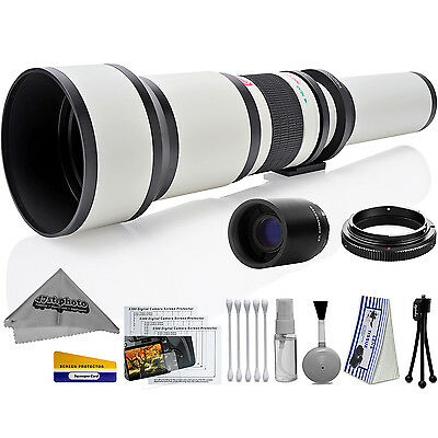Opteka 650-2600mm High Definition Ultra Telephoto Zoom Lens for Nikon F-mount
