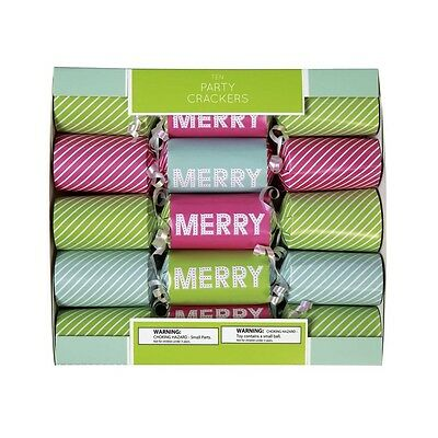 C.R. Gibson Holiday Christmas Party Cracker Set – Merry CPPF-17597