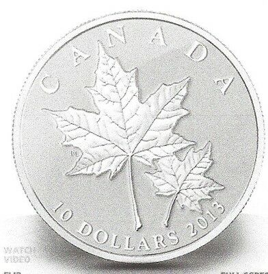 * Royal Canadian Mint - #123685 - 2013 - $10-Coin - Maple Leaf