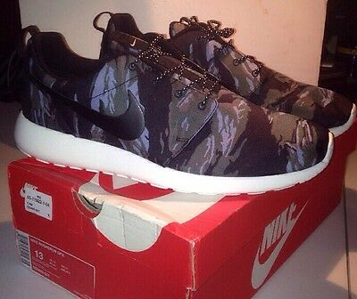 save off 51a9f cb1fe Rare DS NEW Nike Roshe Run GPX Sz 13 Tiger Camo Black Multicolor SOLD OUT