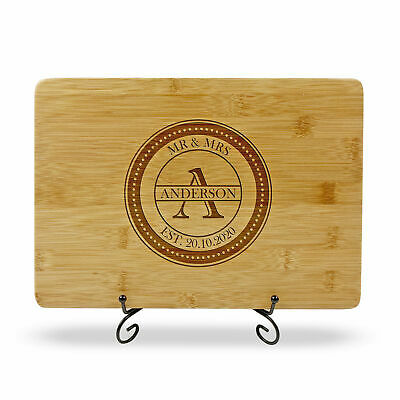 Personalised Engraved Chopping Board Wedding Birthday Engagement Gift