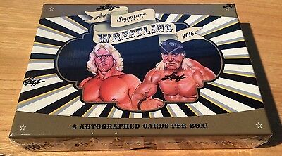 2016 Leaf Signature Series Wrestling Hobby Box 8 Autographed Cards Per Box