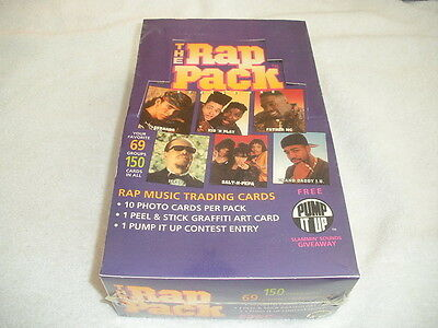 1991 PREMIER THE RAP PACK TRADING CARDS BOX 36 Packs/10 Cards & 1 Sticker NEW