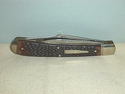 "Vintage Remington Knife The Hunter 1986 R1263 2 Blade Folder 5-3/8"" Bullet-BL"