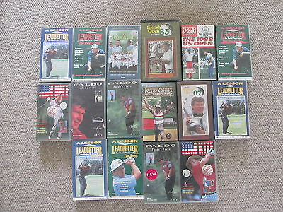Interesting lot of 16 golf PAL VHS tapes