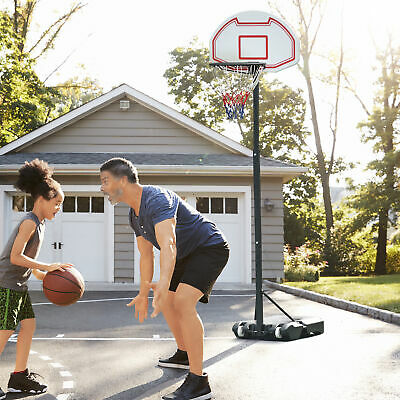 "29"" Portable Basketball hoop System Backboard Height Adjustable All Ages Wheels"