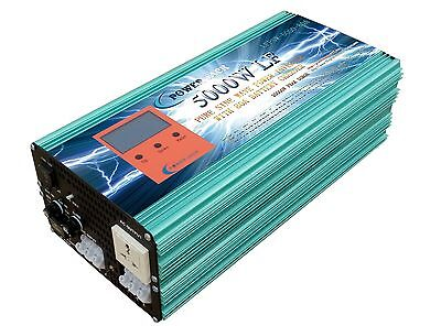 5000W LF PSW DC 24V to AC 240V Power Inverter with 80A Battery charger/UPS/LCD
