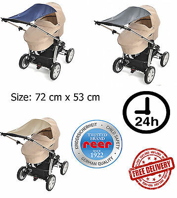 SUN SAIL For Pram Stroller Wind Sun Shade UNIVERSAL FIT AUSTRALIA Safety REER