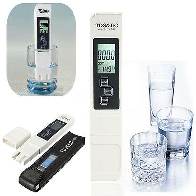 Portable 3In1 LCD Digital TDS EC PPM Water Quality Meter Tester Purity Pen Stick