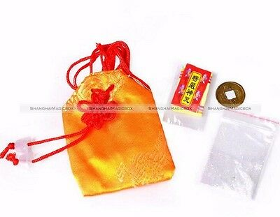 1Set Feng Shui God Wealth Amulet FU Bag Bring Good Lucky Increase Wealth