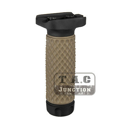 Tactical KeyMod GolfBall Pattern ForeGrip Aluminum w/ Rubber Vertical Grip Long