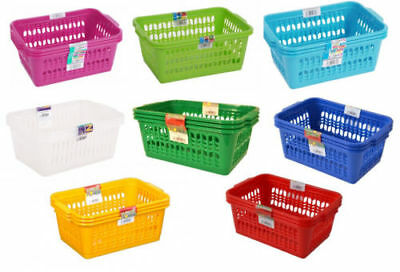 Plastic Handy Storage Baskets Small Medium Large Kitchen Study Home Office