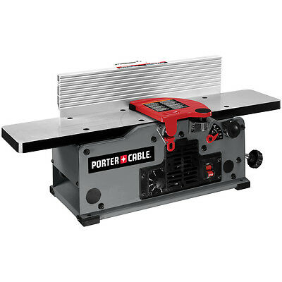 10-Amp Bench Jointer Power Tool Corded Electric Aluminum 2-Knives Cutter Gray