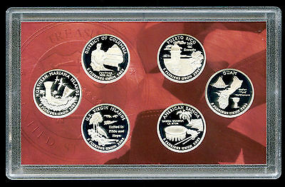 2009 S Silver Us Mint State Quarter Proof Set Dc & U.s. Territories 6 Coin