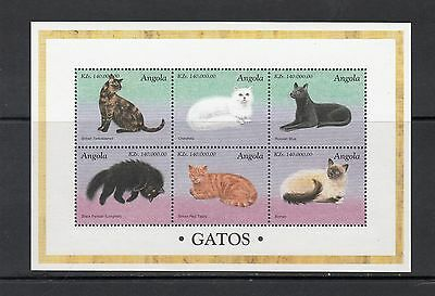CATS - Angola - 1998 sheet of 6  - (SC 1023)- MNH- Y135
